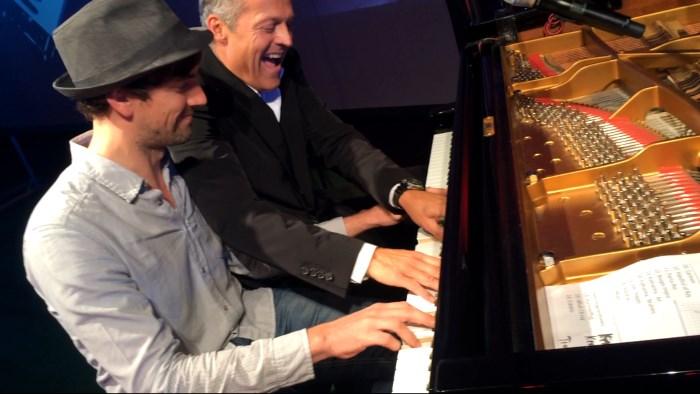 Joja Wendt & Joe Löhrmann bei der Festspielen in Eutin am Piano