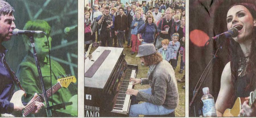 In der Lüneburger Landeszeitung zwischen Noel Gallagher und Amy McDonald